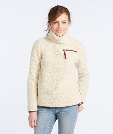 llbean sherpa pullover