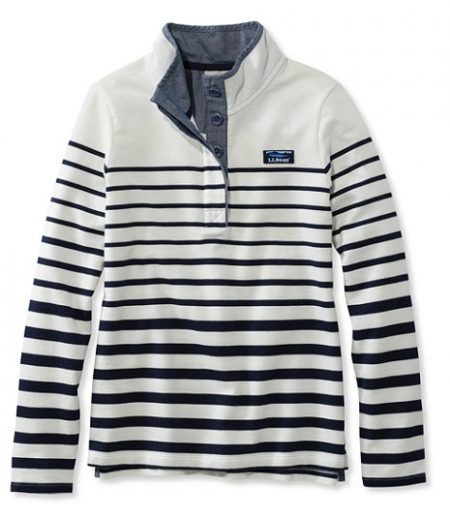 llbean striped pullover