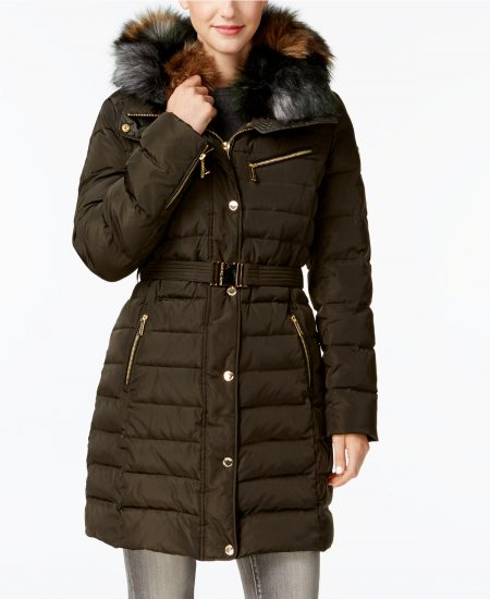 michael kors double collar puffer coat macys