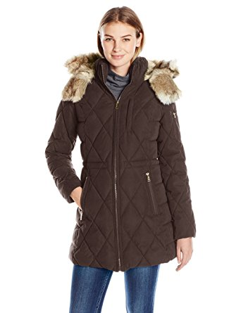 nautica fur lined hood puffer coat amazon