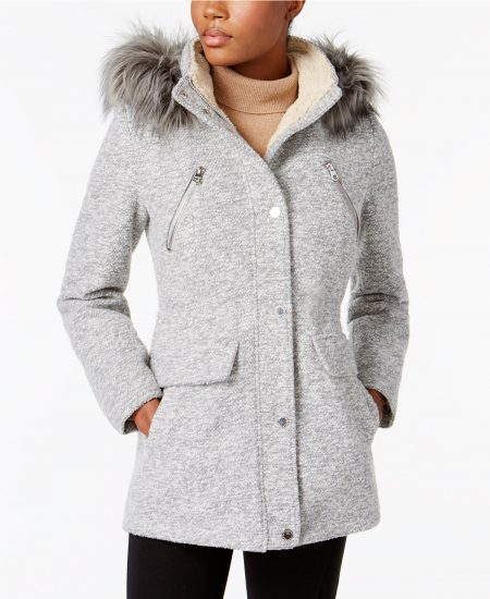 nautica wool coat macys