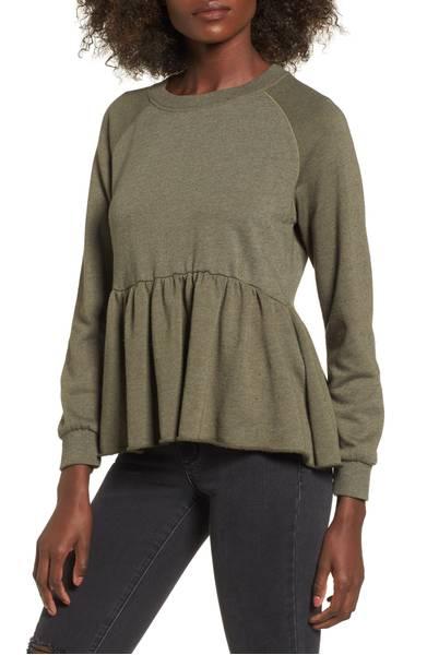 peplum sweatshirt womens winter clothes nordstrom