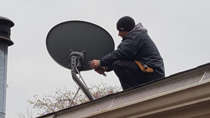 how to mount hdtv antenna to satellite dish - removing dish