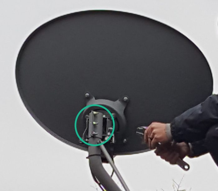 how to mount hdtv antenna to satellite dish - mount bolts