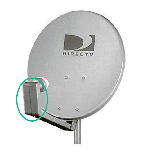 how to mount hdtv antenna to satellite dish - arm end cap