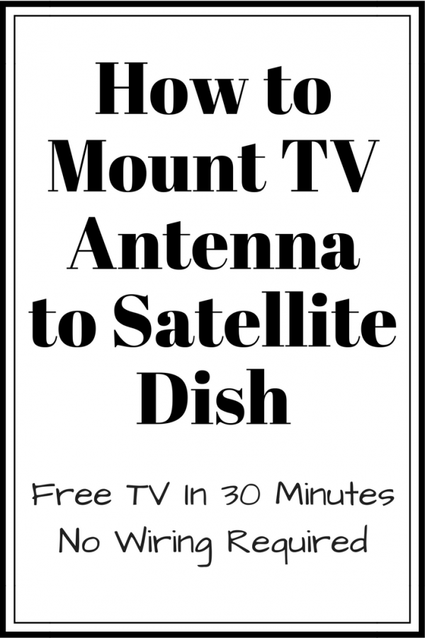 how to mount hdtv antenna to satellite dish