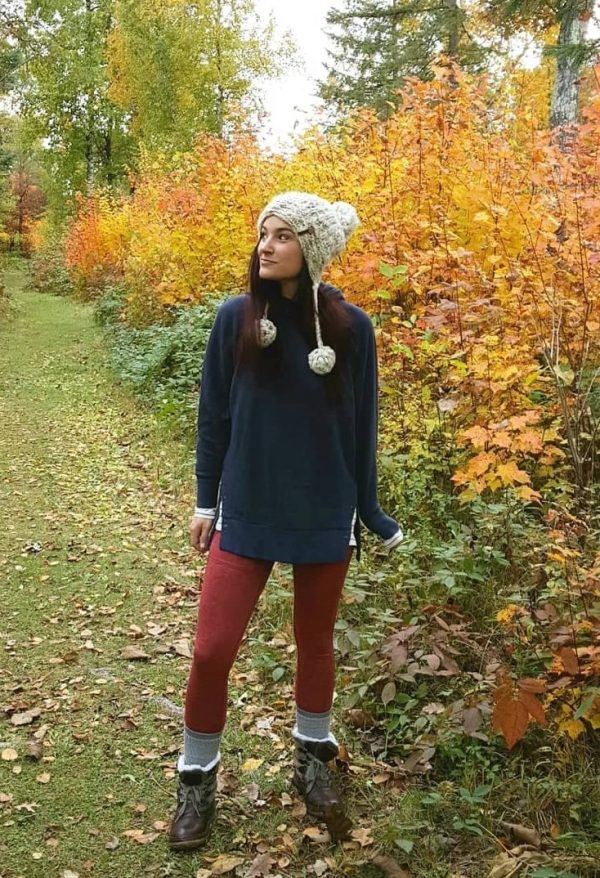 Loggers and snap side tunic sweatshirt | cute lounge clothes for moms