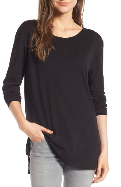 BP Side Slit Tee | cute lounge outfits for moms