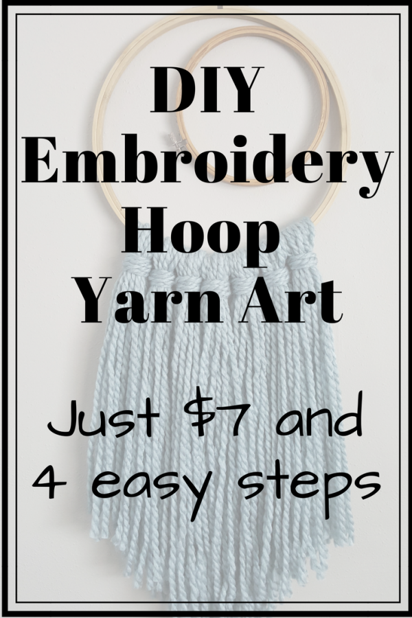 DIY Wall Hanging Yarn Art & Embroidery Hoop Decor – $7 and 4 Steps