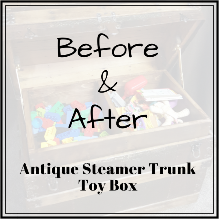 DIY Toy Box Treasure Chest before and after