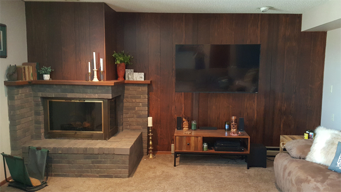 Before - DIY Barnwood Wall
