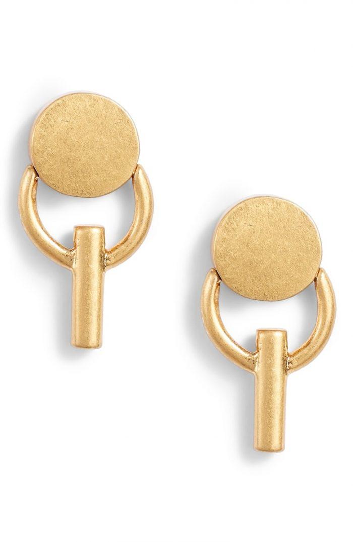 circle bar earrings