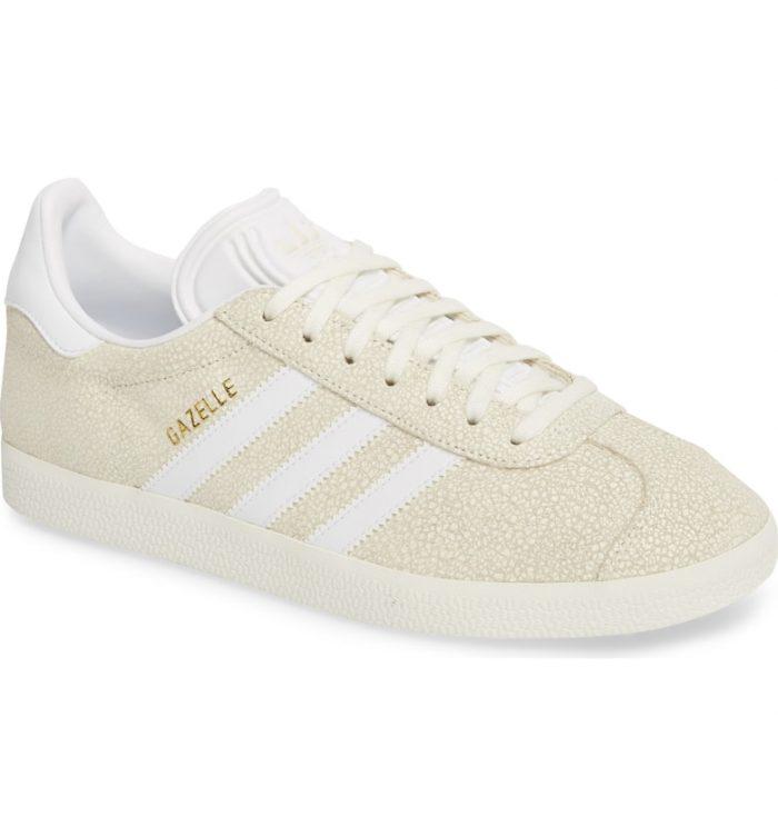 cream gazelle sneakers