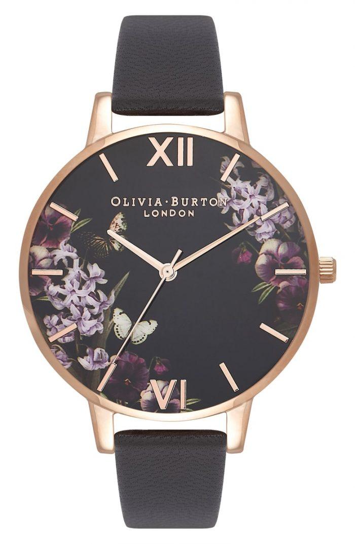 floral black watch