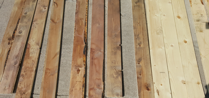 homemade wood stain - how to age wood