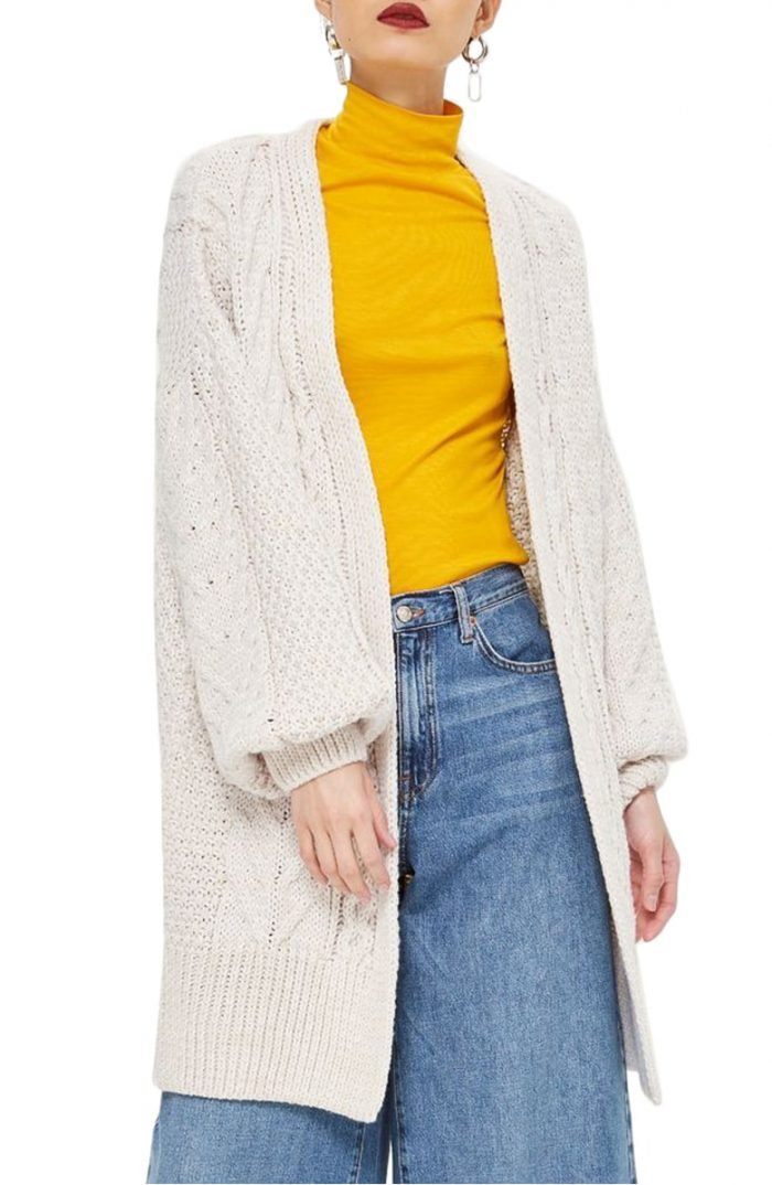 long chunky knit cardigan