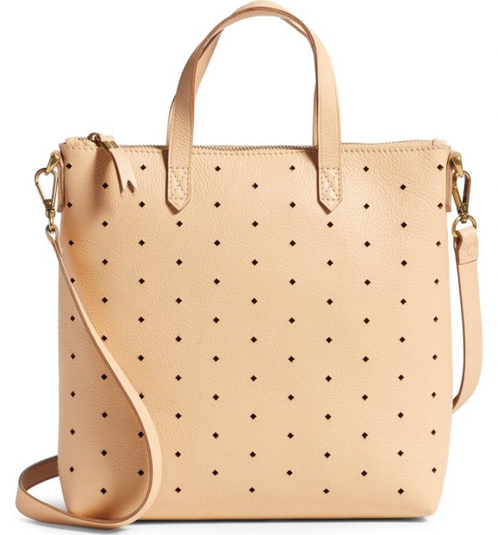 perforated madewell tote