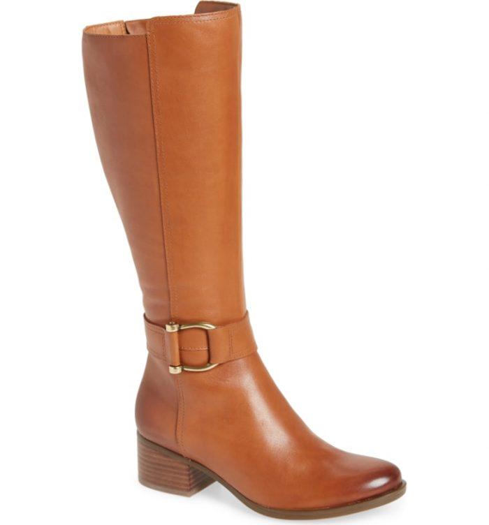 tan knee high boot