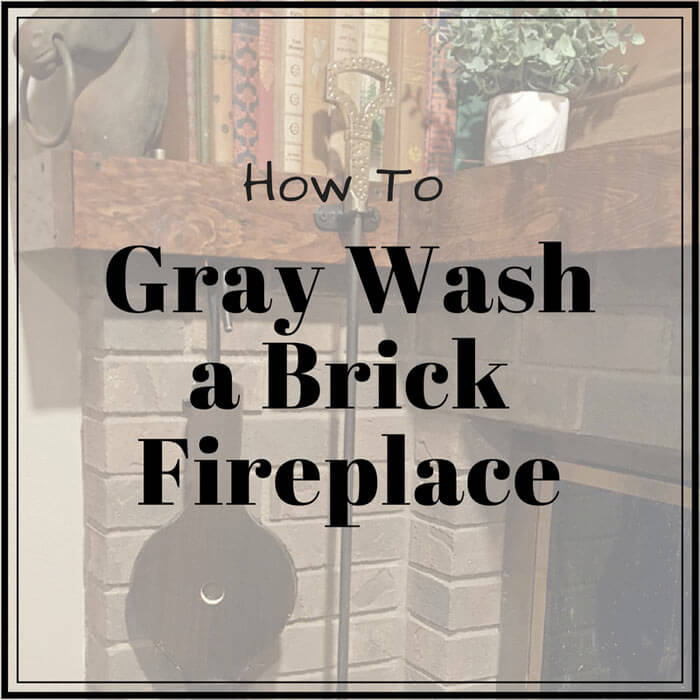 Gray Wash a Brick Fireplace sq
