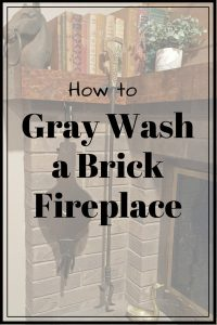 How to: Gray Wash Brick Fireplace | Color Washing Brick