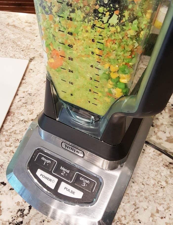chopped veg mix toddler veggies nugget