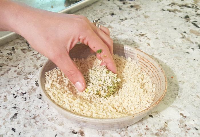 coating toddler veggies nugget