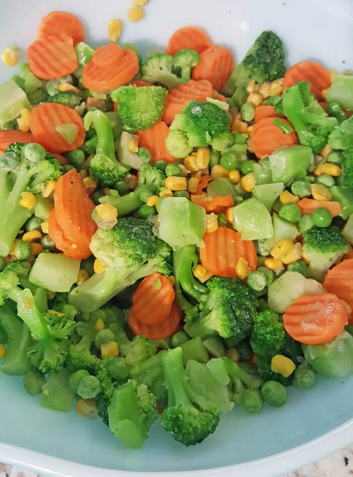 frozen vegetables toddler veggies nugget
