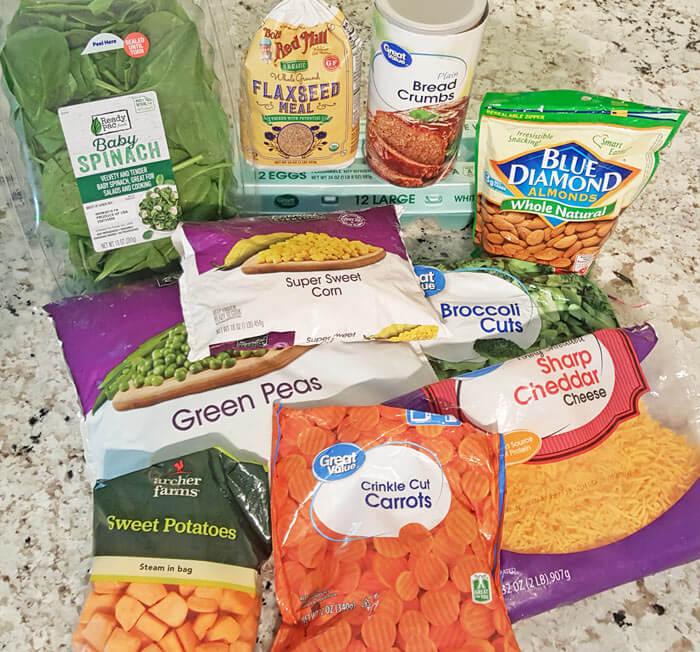 ingredients toddler veggies nugget
