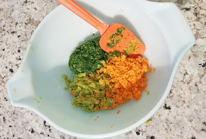mixed veggies toddler veggies nugget