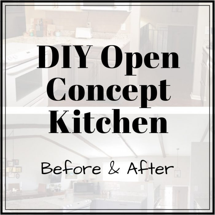 DIY Open Concept Kitchen