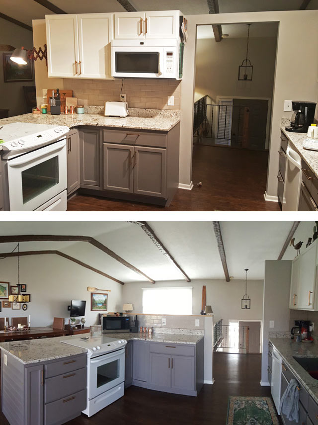 before-and-after-DIY-open-concept-kitchen-living-remodel