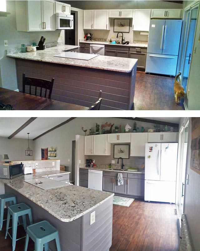 before-and-after-DIY-open-concept-kitchen