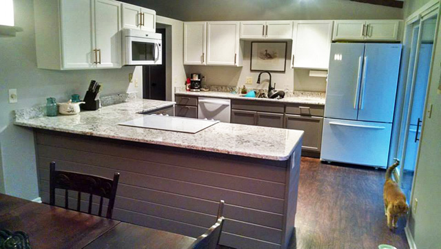 |Before DIY Open Concept Kitchen