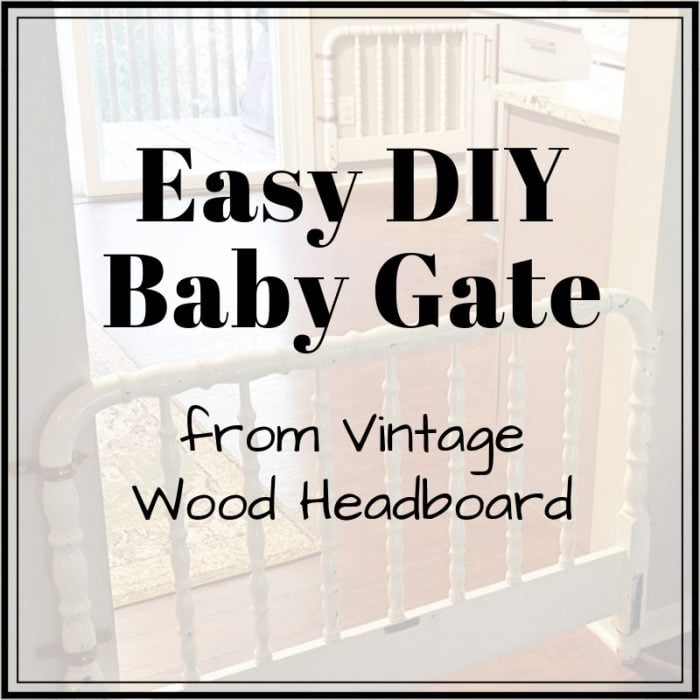 Easy diy decorative baby gate from vintage headboard