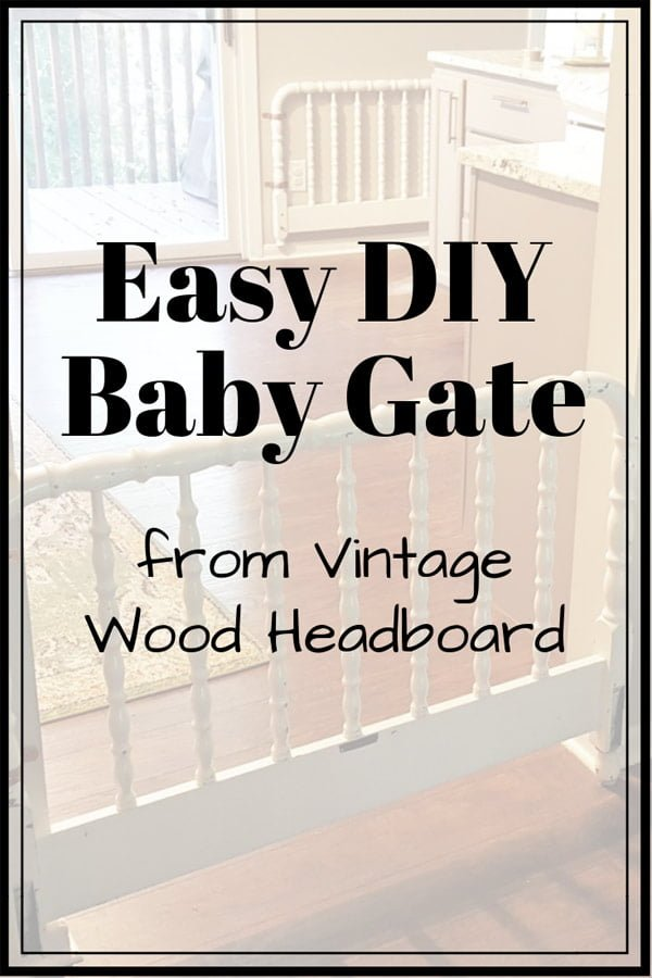 Easy diy decorative baby gate from vintage headboard