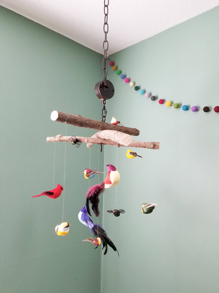 toddler room ideas - diy bird mobile