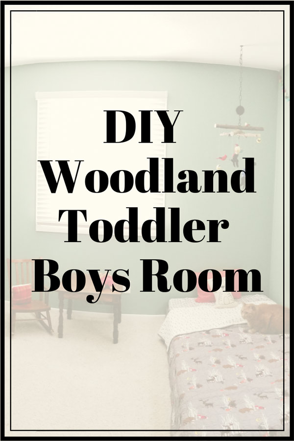 Toddler Room Ideas: DIY Woodland Toddler Boys Room