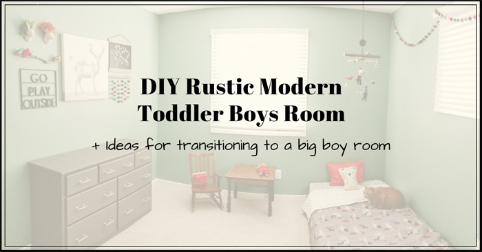 Toddler Room Ideas: DIY Rustic Modern Toddler Boys Room