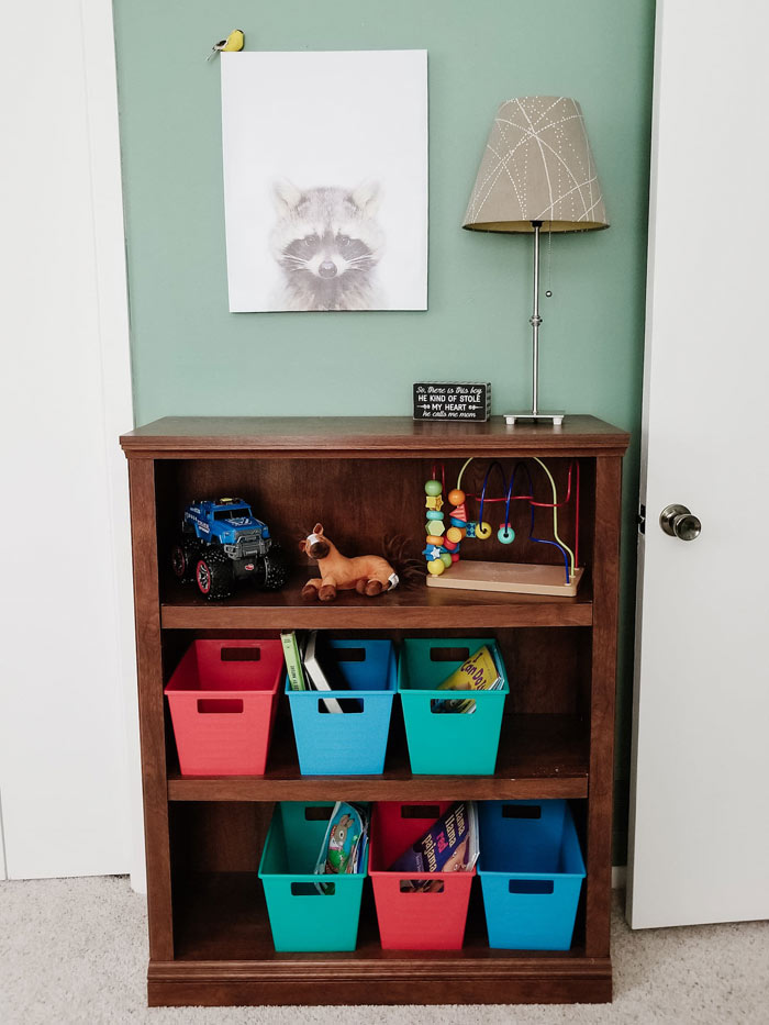 toddler room ideas - toddler room organization bookcase storage