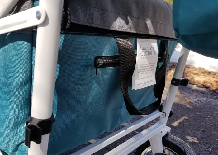 zipper compartment push wagon stroller