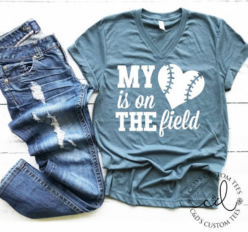 heart on the field shirt