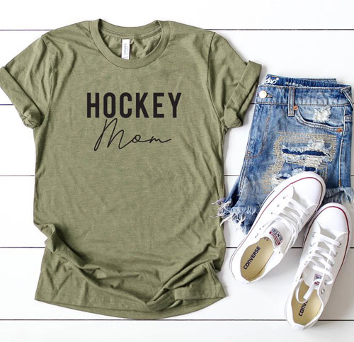 hockey mom sports mom shirts