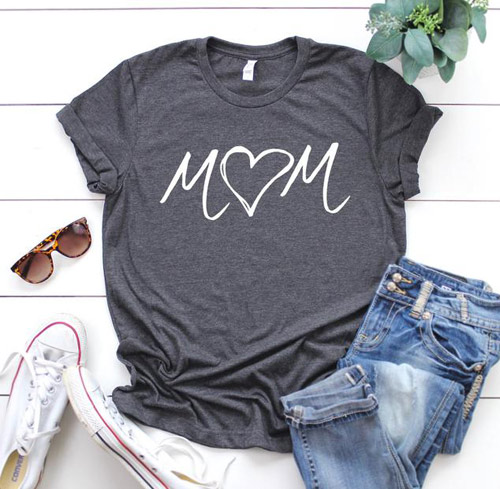 mom shirts with heart
