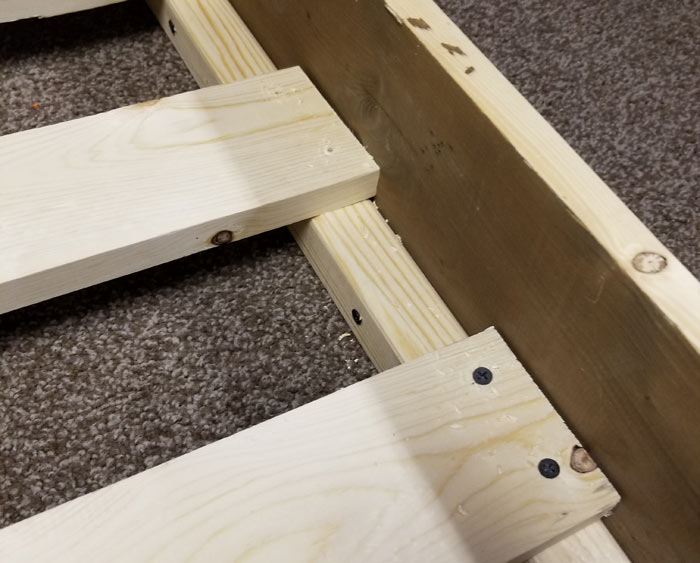DIY toddler bed frame rails