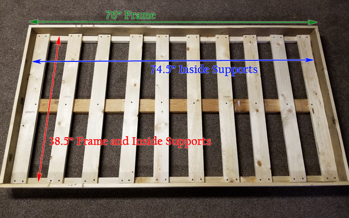 DIY Toddler Floor Bed Frame Design