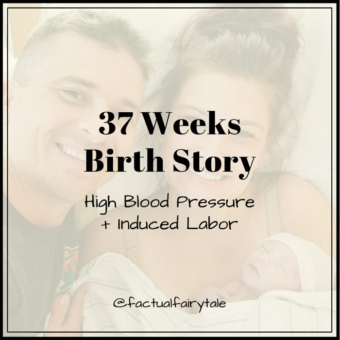 37 weeks pregnant induced labor birth story