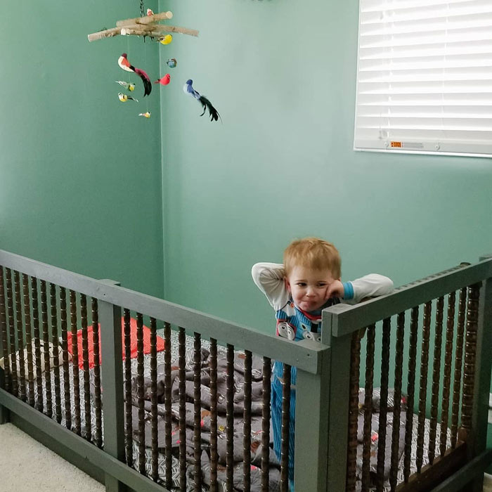 DIY Toddler Crib Rails | How to keep toddler in bed