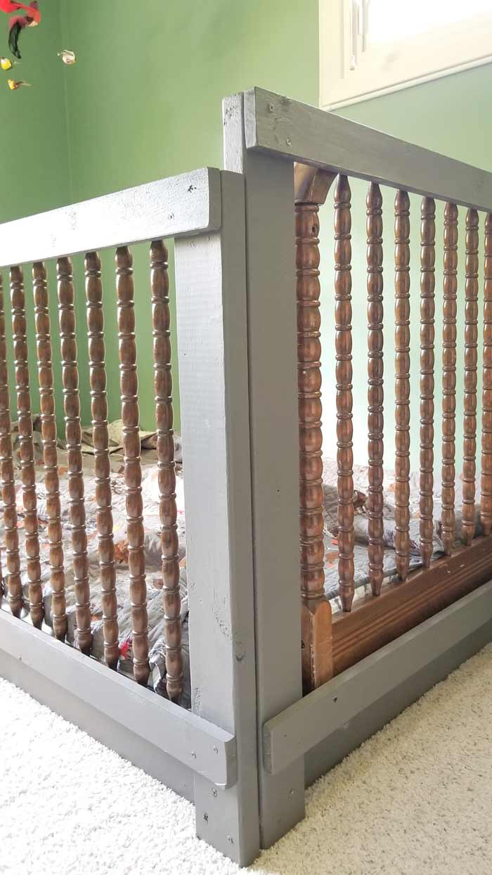toddler bed rails corner supports