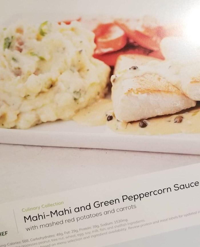 Home Chef Reviews: Mahi Mahi Green Peppercorn Sauce Meal